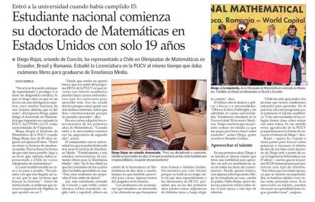 Experiencia exitosa de aceleración en estudiante chileno